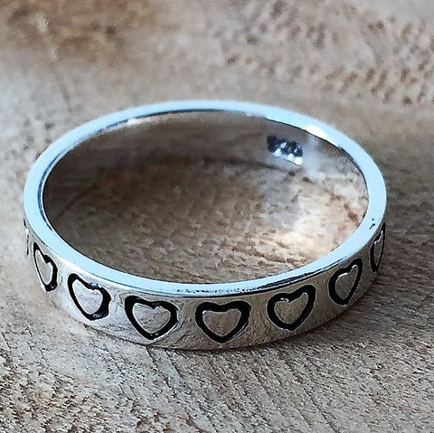 Sterling Silver Forever Love Heart Ring