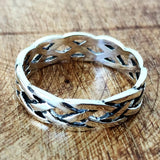 NEW! 925 Sterling Silver Celtic Knot Eternity Ring