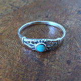 Sterling Silver Stabilized Turquoise Ring Jewelry
