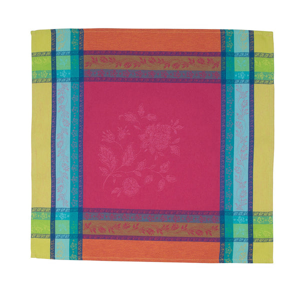 french linen jacquard table napkin in fuschia
