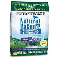 Natural Balance Lamb Meal & Brown Rice Large Breed Bites