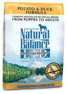 Natural Balace Potato & Duck Dog Food