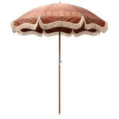 Rhythm - damask premium brollie coffee