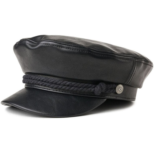 Brixton- fiddler cap vegan leather black