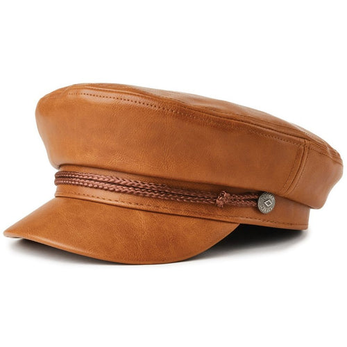 Brixton- fiddler cap tan vegan leather