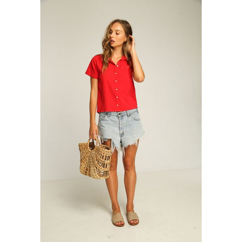 Rue Stiic- lone star shirt red