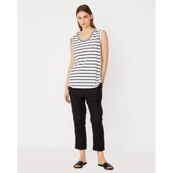 Assembly Label - scoop tank worn navy stripe