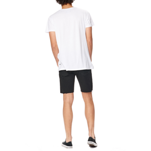 Abrand - a dropped skinny short black raw