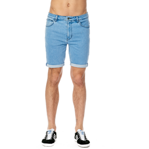 Abrand A Dropped Skinny Short- Bleach Indigio