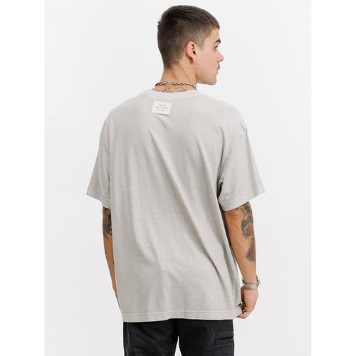 Thrills Co - military patch box fit tee faded grey