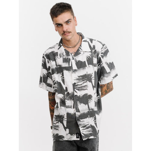 Thrills Co - distorted palm bowling shirt