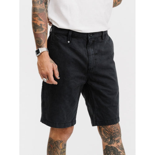 Thrills Co - chopped chino short vintage black