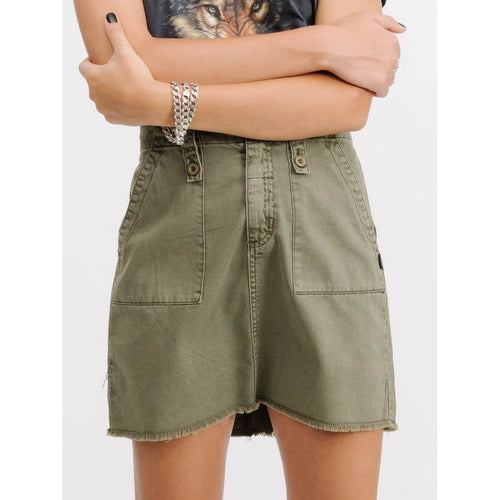 Thrills Co - military skirt army green
