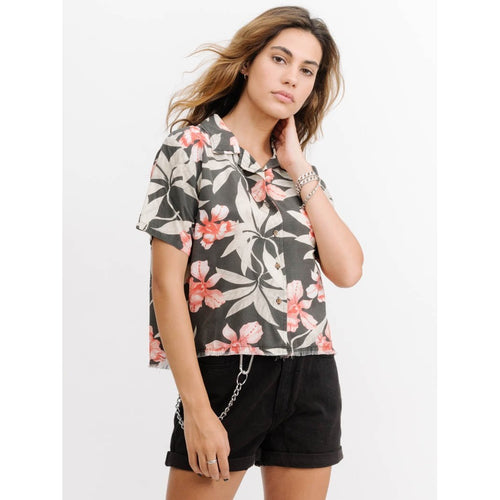 Thrills Co - faded jungle crop shirt yardage
