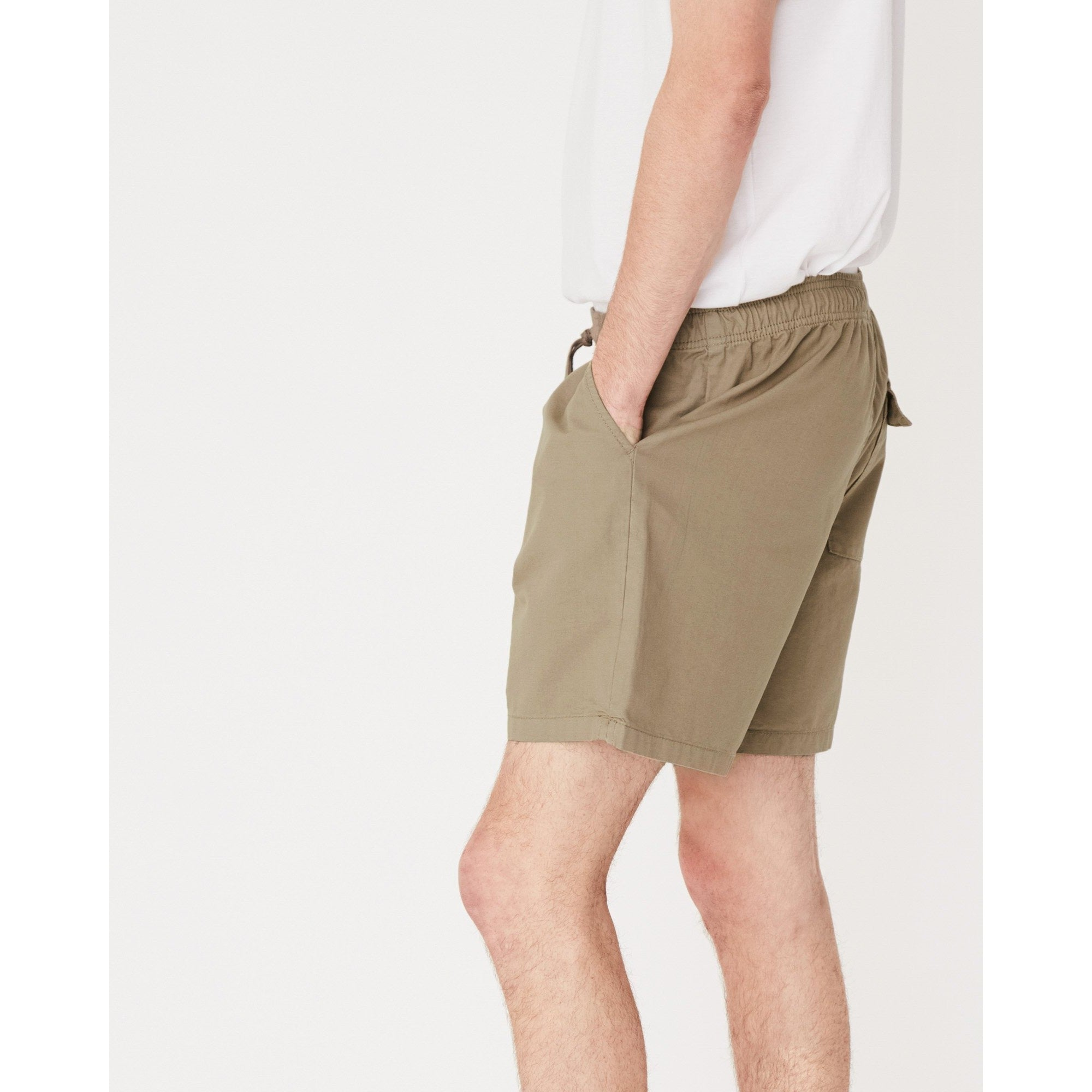 Assembly Label- cotton walkshort olive