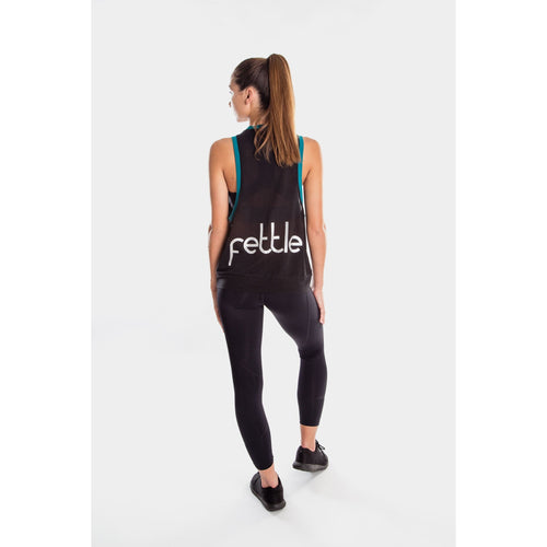 Fettle - chelsea running singlet with blue band