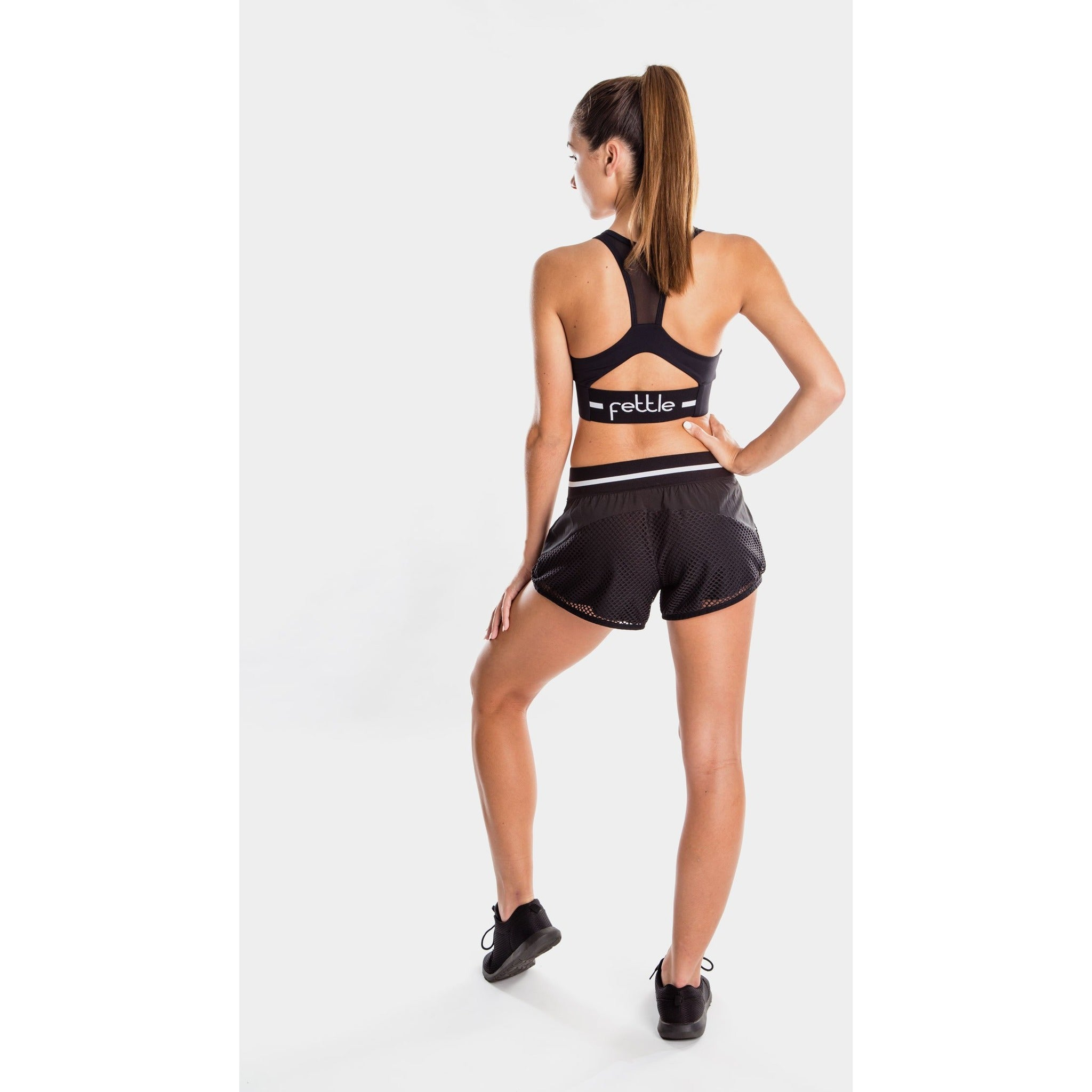 Fettle - kirra running shorts black