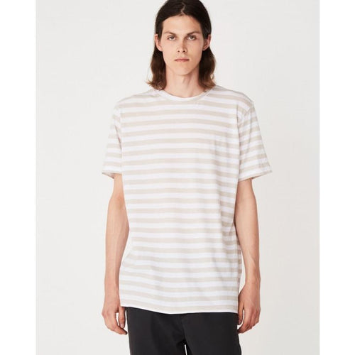 Assembly Label - oversized tee flax stripe