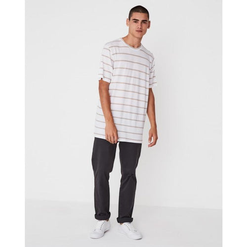 Assembly Label - oversized tee taupe stripe