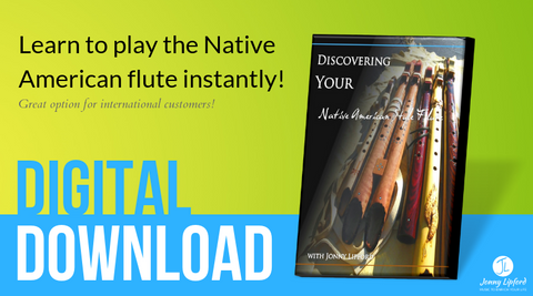 Instructions on how to play the native american flute with scales, techniques and embellishments with Jonny Lipford native american flutist