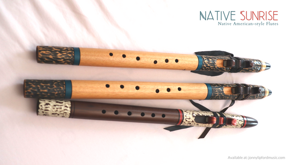 Ergonomic hole placement off set holes on a native american flute
