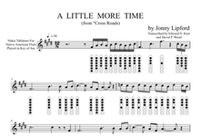 A Little More Time - Sheet Music for Native American Flute [PDF]