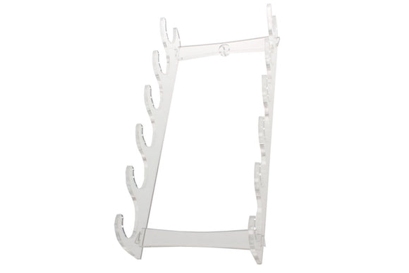 Clear Native American Style Flute Rack - Six Flutes (Wall Mount)