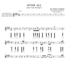 Native American flute sheet music showing finger diagrams and Nakai TAB on After All, a Jonny Lipford song for Native American Flutes