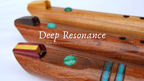 Deep Resonance Native American Style Flutes [Bass Flutes]