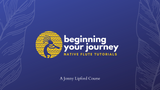 A yellow kokopelli playing the native american flute shown in the logo of Jonny Lipford new online course on how to play the native american flute.