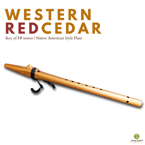 Western Red Cedar Native American Style Flute [F# minor]