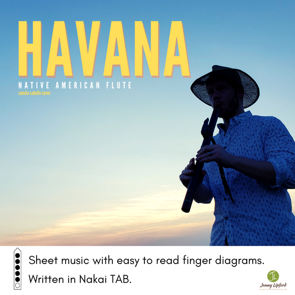 Jonny Lipford playing his Native American flute at sunset as the product image for Havan by Camilla Cabello sheet music for Native American flute