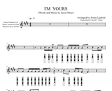 Native American flute diagrams on the sheet music and Nakai Tablature for I'm Yours by Jason Mraz