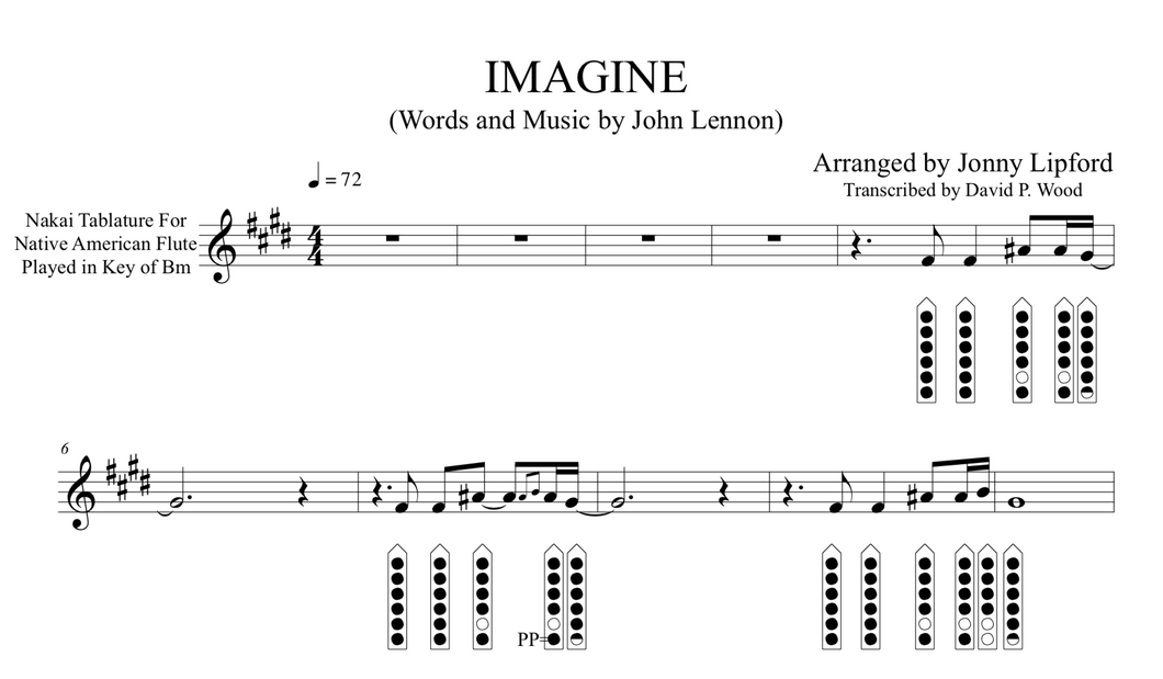 Imagine - Sheet Music for Native American Flute [PDF]