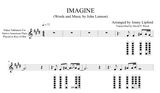 An example of the sheet music in Nakai TAB for Imagine by John Lennon for Native American Flutes.