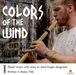 Jonny Lipford playing his Native American flute covered in paint by John Paul Schafer for the feature image of Colors of the Wind Tablature Sheet music for Native American flutes