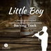 Jonny Lipford silhouette playing his native american flutes in front of a boy's shoe. This is the product image for Little Boy Backing Tracks for Native American flutes.