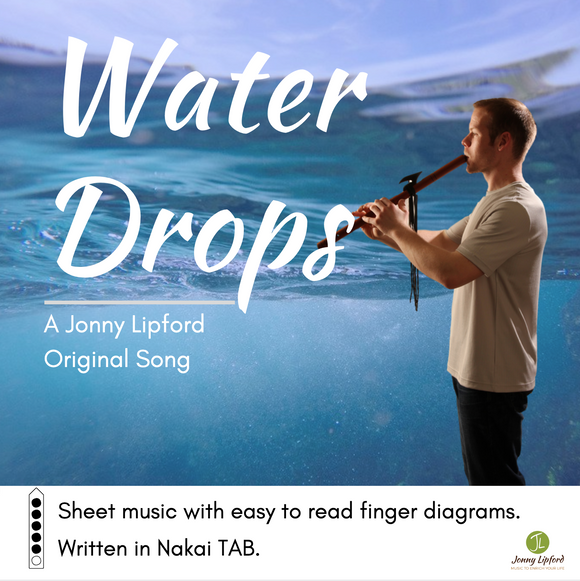 Water Drops - Sheet Music for Native American Flute [PDF]
