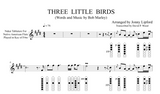 An example from the Native American Flute Sheet music of Three Little Birds in Nakai Tab for Native American Flutes