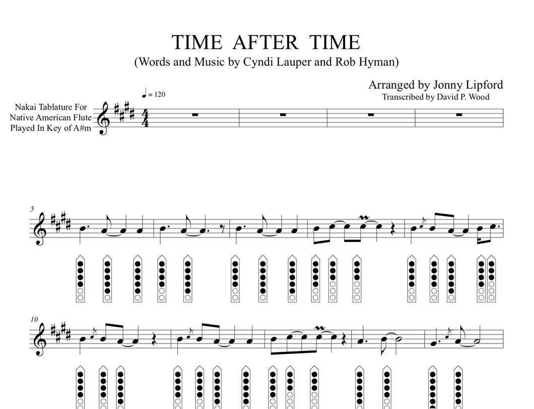 Time After Time - Sheet Music for Native American Flute [PDF]