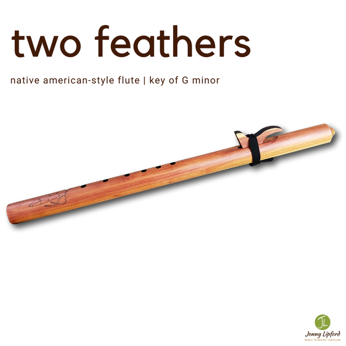 Two Feathers Native American Style Flute [G minor]