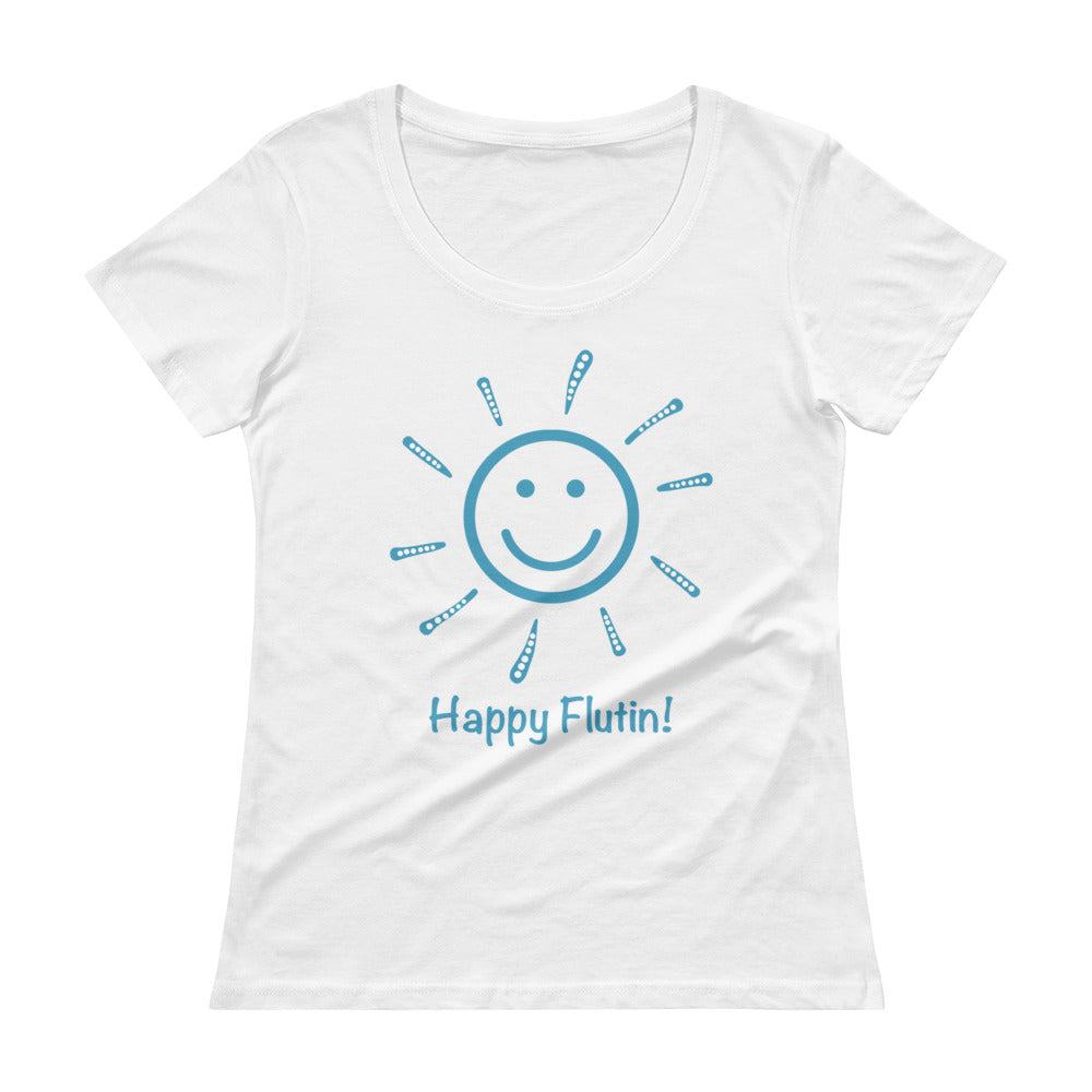 Happy Flutin! Ladies' Scoopneck T-Shirt