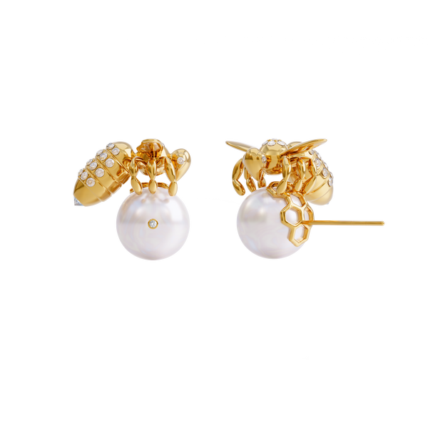 BEE DIAMONDS | AKOYA WHITE & GOLD