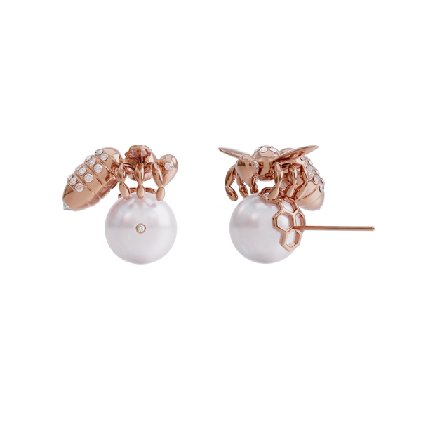 BEE DIAMONDS | AKOYA WHITE & ROSE GOLD