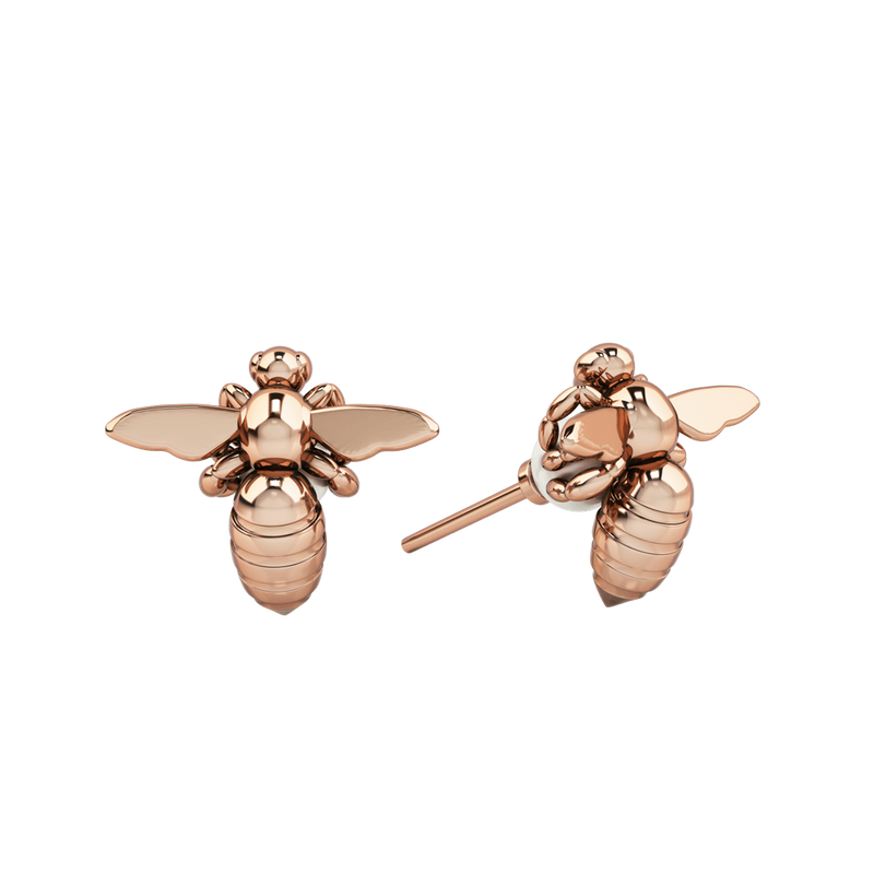 1986 Bee 93° Grab & Go White Pearl Stud in Rose Gold