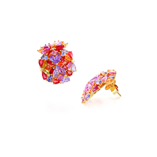 KALEIDOSCOPE MIRAGE OF SAPPHIRES & GOLD EARRINGS
