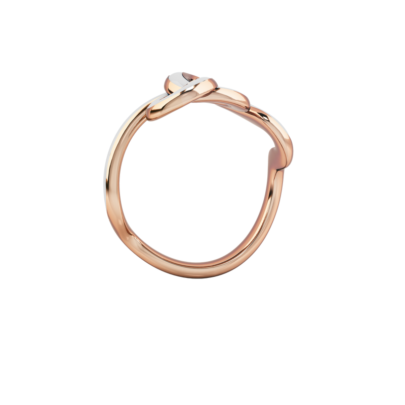 KNOT CLOUD WHITE & ROSE RING