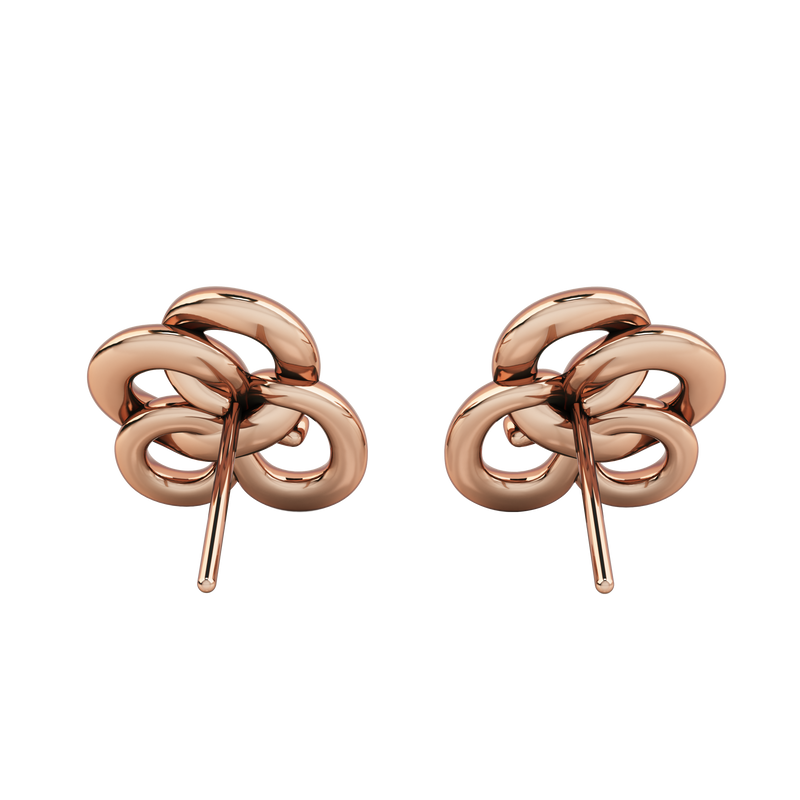 MEMORY KNOT CLOUD WHITE & ROSE EARRING