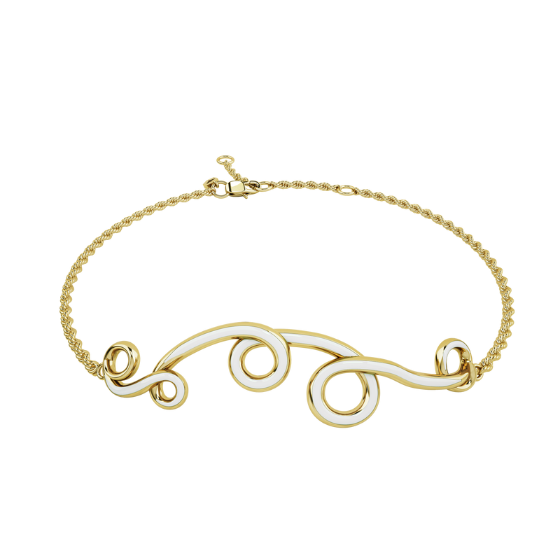 BRACELET IN CLOUD WHITE & GOLD