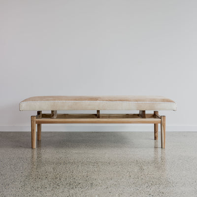 Argentinean Cowhide Bench (L)